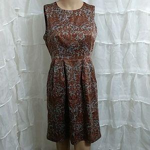 BANANA REPUBLIC Sleevless Lined Midi Dress